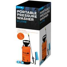 Simply Portable Pressure Sprayer with Brush 8 Litres