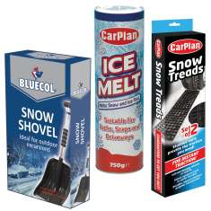 Snow Treads + 750g Ice Melt Stick + Extendable Snow Shovel Car Snow Pack - CIM750 + CSN000 + BES000