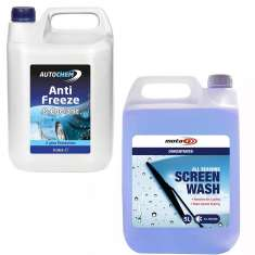 5 Litres All Seasons Screen Wash + 5 Litres Autochem Blue Antifreeze Pack - SAX005 + ABL005