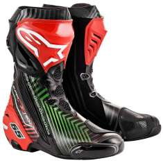 Alpinestars Supertech R Rea 19 Boots - Black Red Green