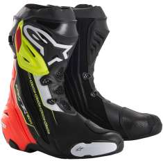 Alpinestars Supertech R Boots - Black Yellow Red
