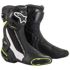 Alpinestars SMX Plus V2 Boots - Black White Yellow
