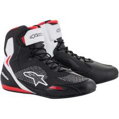 Alpinestars Faster-3 Rideknit Shoes - Black White Red