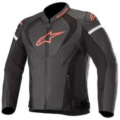 Alpinestars Jaws V3 Leather Jacket - Black Red