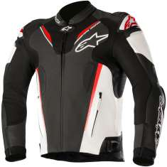 Alpinestars Atem Leather Jacket V3 - Black White Red