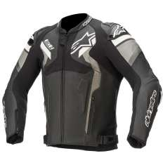 Alpinestars Atem Leather Jacket V4 - Black Grey White