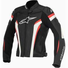 Alpinestars Stella GP Plus R Leather Jacket V2 Ladies - Black White Red