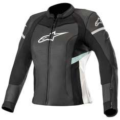 Alpinestars Stella Kira Leather Jacket Ladies - Black White Blue