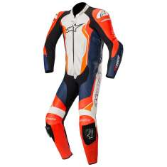 Alpinestars GP Force Leather Suit 1PC - Red Black White