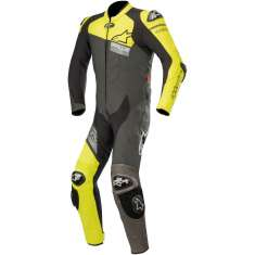 Alpinestars GP Plus Venom Leather Suit 1 Piece - Grey Black Yellow