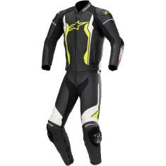 Alpinestars GP Force Leather Suit 2PC - Black White Yellow