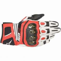 Alpinestars SP X Carbon Gloves Air - White Black Red
