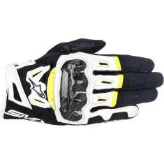 Alpinestars SMX-2 Air Carbon Gloves V2 - Black White Yellow
