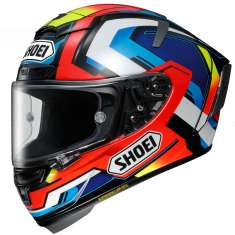 Shoei X-Spirit III Brink TC1 Helmet - Blue Red White