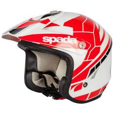 Spada Edge Chaser Helmet - White Red Black