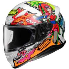 Shoei NXR Stimuli TC-10 Helmet - White Orange