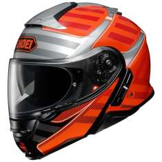 Shoei Neotec 2 Splicer TC8 Helmet - Red Silver Black
