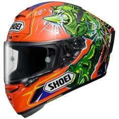 Shoei X-Spirit III Power Rush TC8 Helmet - Green Orange Purple