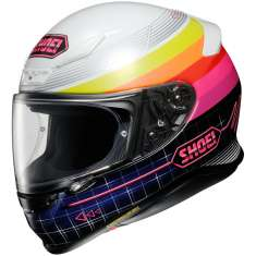 Shoei NXR Zork TC-7 Helmet - White Pink Blue