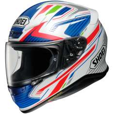 Shoei NXR Stable TC-2 Helmet - White Red Blue