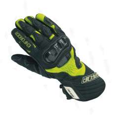 Spada Enforcer Leather Gloves Hi Viz - Black Yellow
