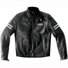 Spidi Ace Leather Jacket - Black White