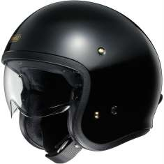 Shoei J-O Open Face Helmet - Black