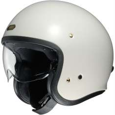 Shoei J-O Open Face Helmet - White