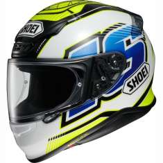 Shoei NXR Cluzel TC3 Helmet - White Yellow Blue