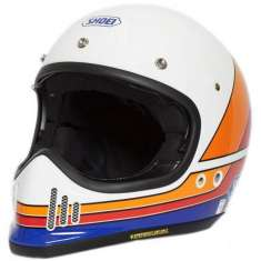Shoei Ex-Zero Equation TC2 Helmet - White Orange Blue