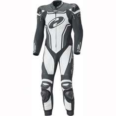 Held 5714 Rush Leather Suit Long 1 Piece - Black White