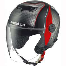 Held 7470 City Scape Helmet - Black Grey Red