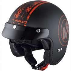 Held Helmet Black Bob 7540 - Black Red