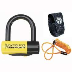 Kryptonite New York Liberty Disc Lock - with Reminder Cable