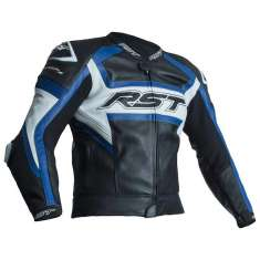 RST Tractech Evo R Leather Jacket 2049 CE - Black Blue