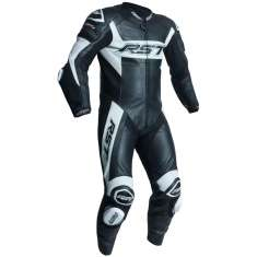 RST Tractech Evo R Leather Suit 2054 CE 1 PC - Black White