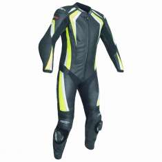 RST R-18 Leather Suit 2068 CE 1 PC - Black Yellow