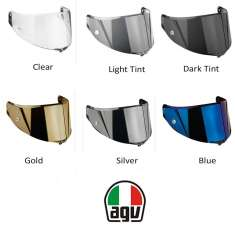 AGV Dual Anti Scratch Anti Fog AX8 Dual Evo Visor - All Colours