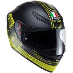 AGV K1 Edge 46 Helmet - Matt Black Yellow