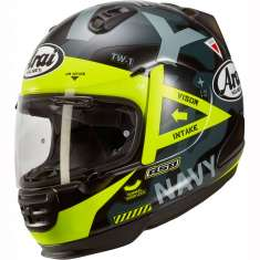 Arai Chaser X Navy Helmet - Black Yellow Grey