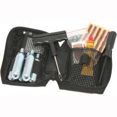 Airpro Premium Motorcycle Tyre Repair + Inflation Kit - Black