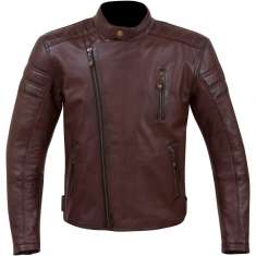 Merlin Lichfield Leather Jacket - Burgundy