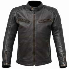 Merlin Chase Leather Jacket - Black