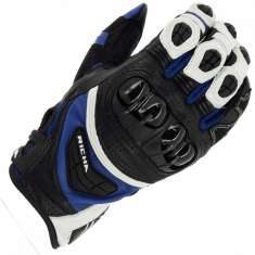 Richa Stealth Gloves - Black White Blue