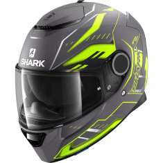 Shark Spartan Antheon Helmet AYK - Matt Anthracite Yellow
