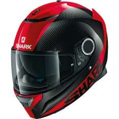 Shark Spartan Helmet Carbon Skin - Black Red