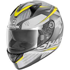 Shark Ridill Stratom MAT AAY Helmet - Matt Anthracite Grey Yellow