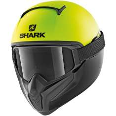 Shark Vancore 2 Neon MAT YKK Helmet - Yellow Matt Black