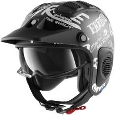 Shark X-Drak Freestyle Cup Helmet MAT KWW - Matt Black White