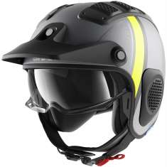Shark X-Drak Terrence Helmet MAT AAY - Grey Matt Black Yellow